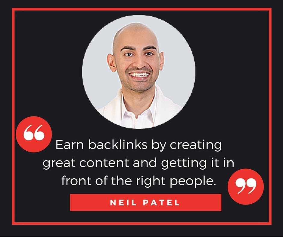Neil Patel link building quote