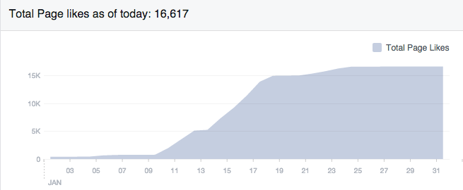 Facebook marketing Like statistics
