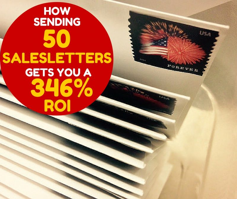 How 50 salesletters gets can get you a 346% roi.