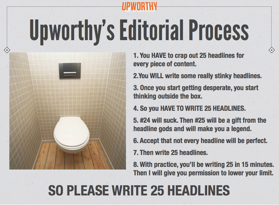 Upworthy editorial process
