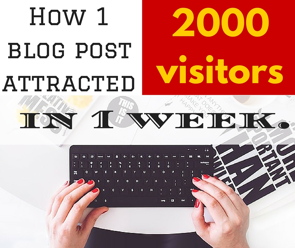 How 1 blog post attracted 2000 website visitors in 1 week.