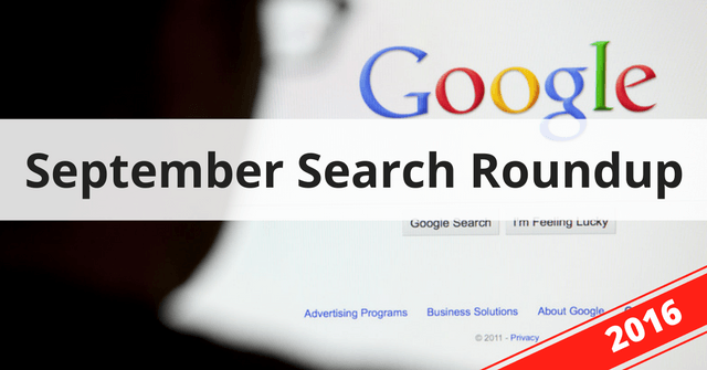 Search roundup – September 2016