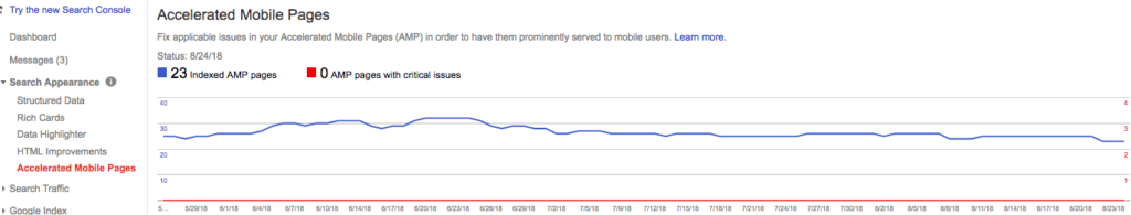 AMP (Accelerated Mobile Pages) - Google Search Console
